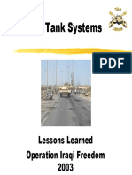 Abrams Abrams Tank Systems - Lessons Learned Operation Iraqi Freedom 2003