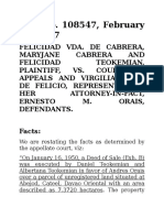 Cabrera vs CA