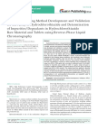 Stability-Indicating Method Development and Validation for the Assay of Hydrochlorothiazide and Determination of Impurities/Degradants in Hydrochlorothiazide Raw Material and Tablets using Reverse-Phase Liquid Chromatography