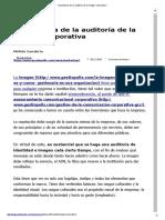 Importancia de La Auditoría de La Imagen Corporativa • GestioPolis