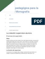 Ayuda Pedagógica Para La Monografía