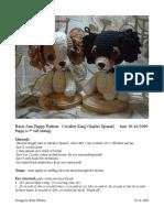 Cavalier King Charles Puppy Pattern