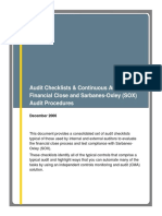 Audit Checlist
