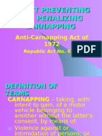 Anti Carnapping Law