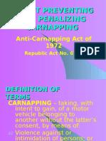 Anti Carnapping Law