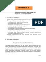 Identifikasi Kebutuhan, Analisis Pembelajaran Dan Perumusan Tujuan Pembelajaran