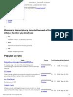 User Scripts