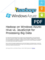 Hadoop on Windows Azure Hive vs JavaScript for Processing Big Data
