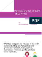 Anti Child Pornography Act of 2009 RA 9775