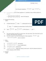 Algebra Model Test paper for Grade X