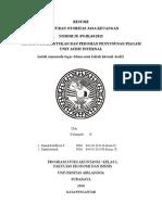 RANGKUMAN PERATURAN OTORITAS JASA KEUANGAN NOMOR 58 /POJK.04/2015 TENTANG PEMBENTUKAN DAN PEDOMAN PENYUSUNAN PIAGAM UNIT AUDIT INTERNAL