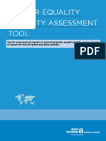 GENDER EQUALITY CAPACITY ASSESSMENT TOOL