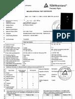 TUV Welder Approval Test Certificate