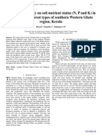 Comparative study on soil nutrient status (N, P and K) in relation to the forest types of southern Western Ghats region, Kerala