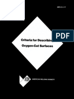 AWS C4.1 1977 Criteria for Describing Oxygen Cut Surfaces