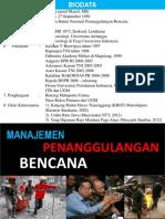 Manajemen Penanggulangan Bencana