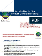 Lecture 04- Considerations When Developing a NPD Strategy