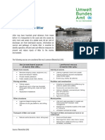 Source of Marine Litter  - examples