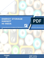 TOC Energy Storage Market India