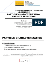 Lecture 2 - Particle Characterization & Size Reduction v2