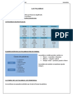 Las Palabras, Clasificación y Forma 1