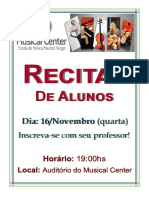 Recital Com Alunos de Teclado e Piano - Musical Center