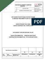 Datasheet for Air Release Valve