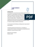 Cabinet Handbook 2007