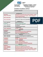 Calendário 2016.2 Acadêmico Atualizado