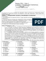Cuadernillo PSU Lenguaje IV° medio - semana 1