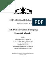 Hak Stokeholder Dan Manajemen