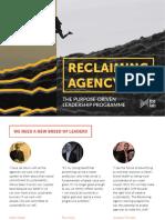Reclaiming Agency Prospectus