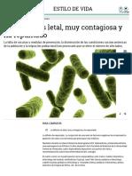 La Difteria Es Letal, Muy..