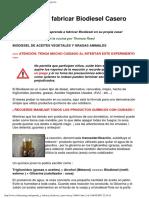 Aprenda a Fabricar Biodiesel Casero - Wikilearning Com