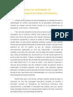 Aferição de actividades de aprendizagem da Língua Portuguesa