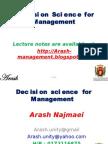 Decision Science for Management-1