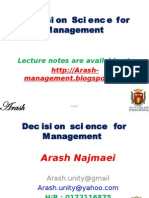 Decision Science for Management-1