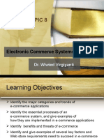 Topic 8 - Electronic Commerce