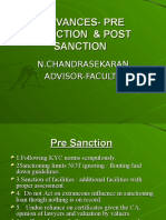040515 Advances Pre Sanction and Post Sanction