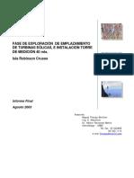 Estudio de Sitios de Emplazamiento (Turbina Eolica)