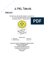Proposal PKL Teknik Mesin