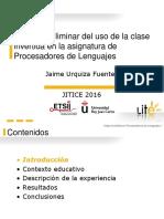 Estudio preliminar del uso de la clase invertida en la asignatura de Procesadores de Lenguajes