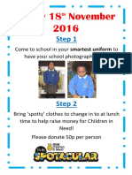 Children in Need 2016 and School Photograph Day