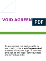 Void Agreements