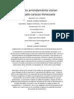 Contrato Arrendamiento Cesion Abogado Caracas Venezuela