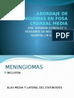 Abordaje de Meningiomas en Fosa Craneal Media