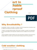 Breathable Waterproof Clothing Ppt