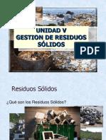 CLASE Unidad v Gestion de Residuos Solidos