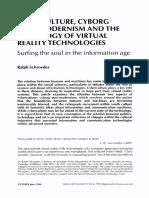 CYBERCULTURE, CYBORG, postmodernism schroeder1994.pdf