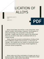 Application of Alloys